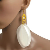 Chanderlier/drop Earrings Long Festival Feather Wear With Love