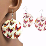 Chanderlier/drop Earrings Mother Of Pearl Butterfly Disc Earings Wear With Love