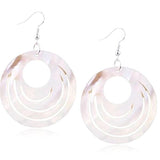 Chanderlier/drop Earrings Natural Mother Of Pearl Shell Cream Disc Earings Wear With Love