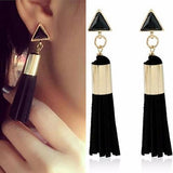 Chanderlier/drop Earrings Suede Tassel Bijoux Triangle Wear With Love