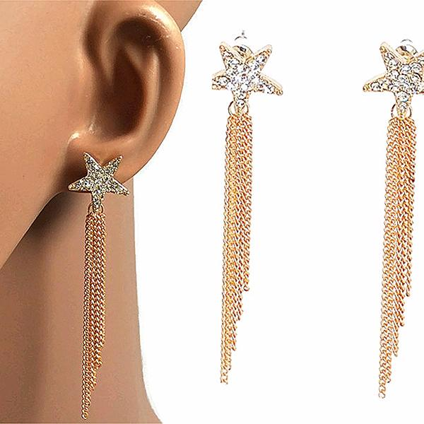 Chanderlier/drop Earrings Tassel Chain Star Wear With Love