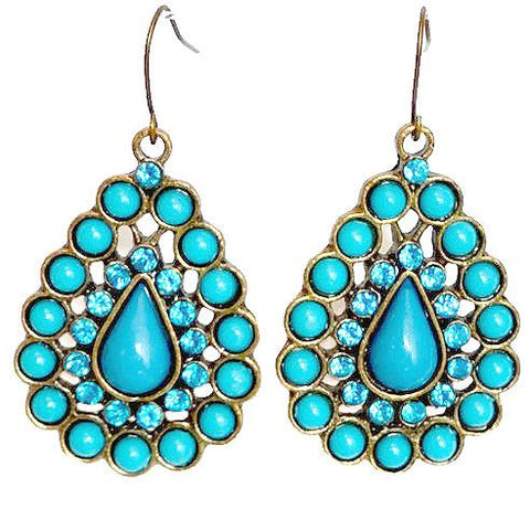 Chanderlier/drop Earrings Turquoise Stone Wear With Love
