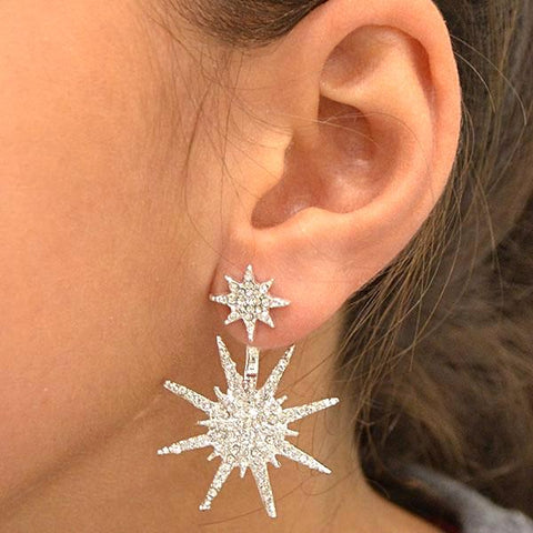 Star Burst Jacket Earrings