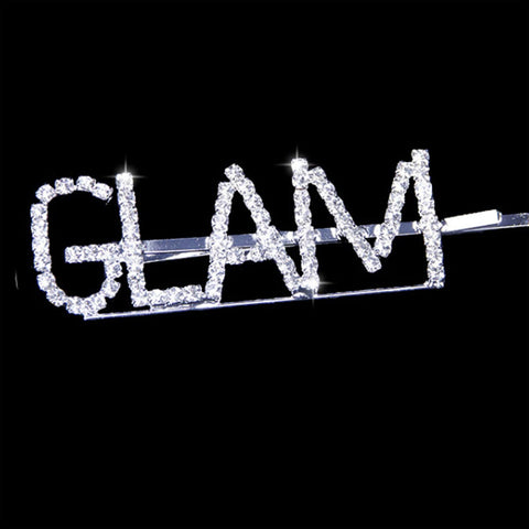 glam worded hair slide