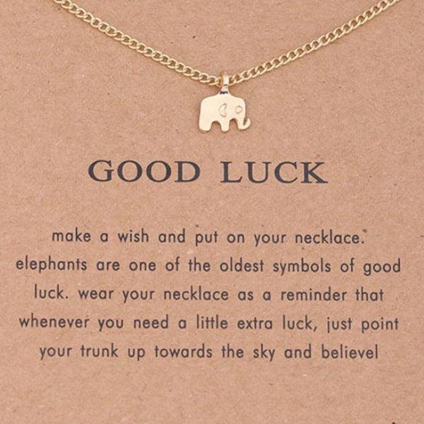 elephant good luck pendant charm necklace