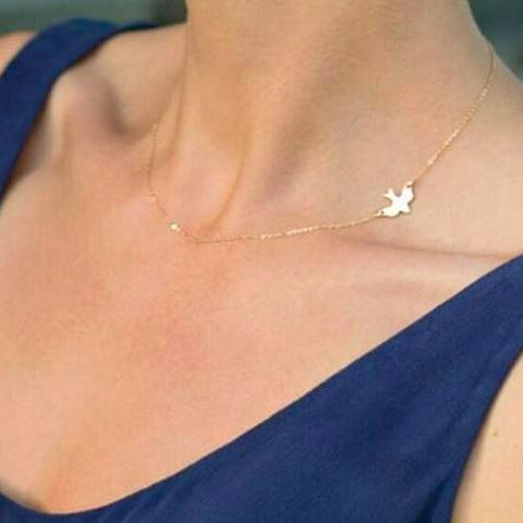 Flight Of Freedom Swallow Chain Necklace