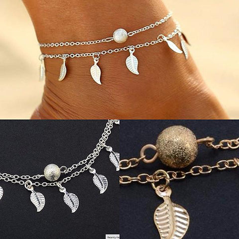 Hair Accesories Boho Beach Feather Charm Foot Anklet Wear With Love
