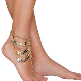 Hair Accesories Boho Gold Metal Barefoot Sandal Bracelet Hippie Foot Anklet Wear With Love