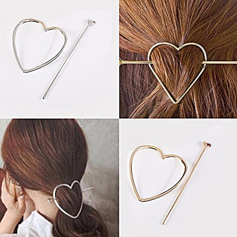 Hair Accesories Boho Heart Pin Ponytail Bun Holder Wear With Love