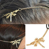 Hair Accesories Chic Gold Chain Dragonfly Headband Wear With Love