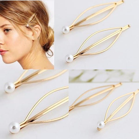 Hair Accesories Elegant Single Pearl Slide Wear With Love
