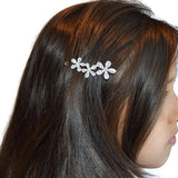 Hair Accesories Flowers And Rhinestone Clip Wear With Love