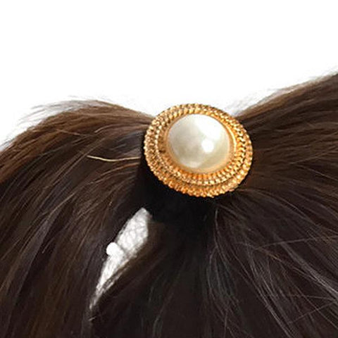 Hair Accesories Gold Beaded Disc Bobble Wear With Love
