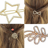 Hair Accesories Gold & Pearl Encrusted Clips Wear With Love