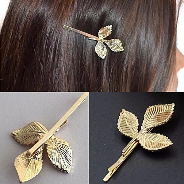 Hair Accesories Grecian Gold Leaf Clip Wear With Love