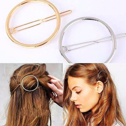Hair Accesories Hollow Circle Clip Wear With Love