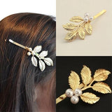 Hair Accesories Large Grecian Style Gold Leaf Slide Wear With Love