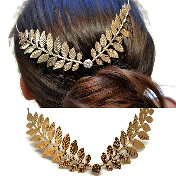 Hair Accesories Leaf Back Headband Wear With Love