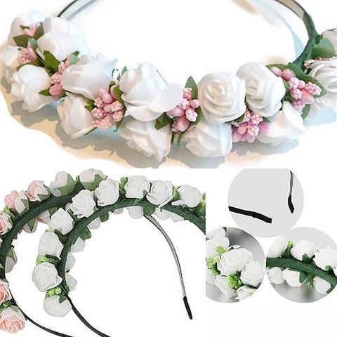 Hair Accesories Roses Garland Band Wear With Love