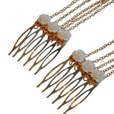 Hair Accesories Roses Gold Multi Chain Slides Wear With Love