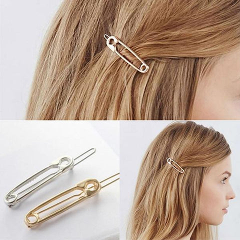 Hair Accesories Safety Pin Design Slides Wear With Love