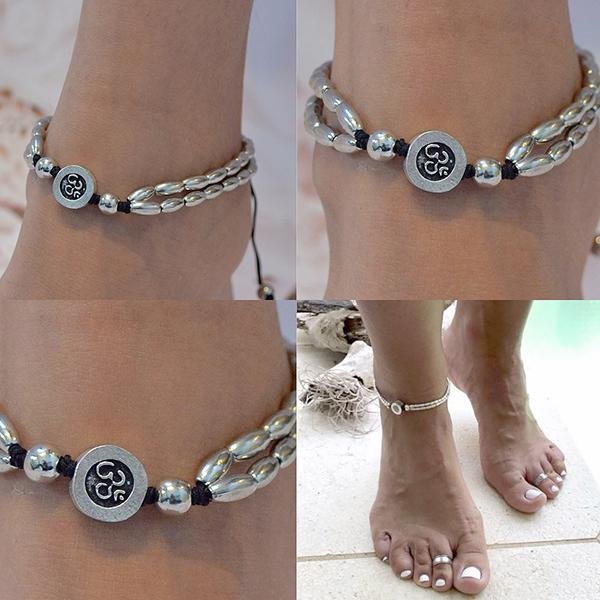 Hair Accesories Silver Boho Buddha Bijoux Foot Anklet Wear With Love