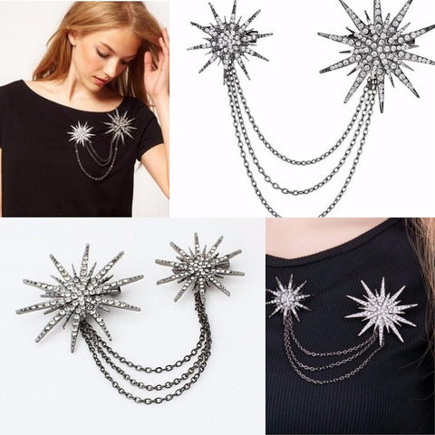 Hair Accesories Statement Rhinestone Pin Brooch Wear With Love