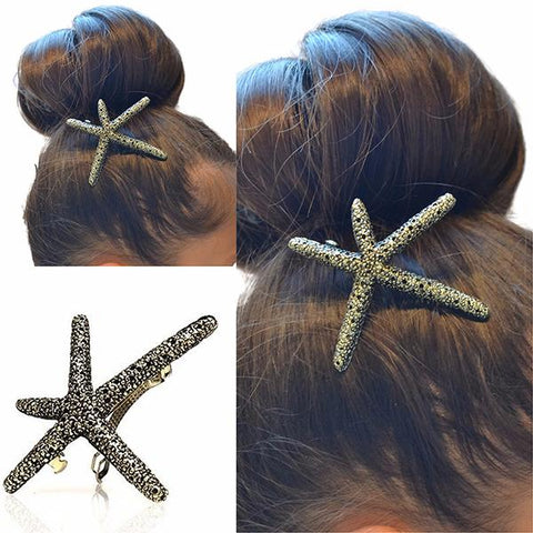 Hair Accesories Vintage Style Starfish Slide Wear With Love