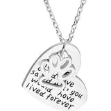 Hand Stamped If I Could Of Saved You Dog Lover Silver Heart Pendant Necklace Wear With Love