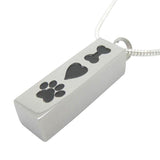 Hand Stamped Pet Urn Ashes Dog Keepsake Memorial Pendant Necklace Wear With Love