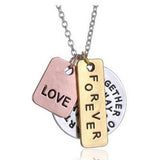 Hand Stamped Together Or Apart YouRe Always In My Heart Charm Necklace Wear With Love