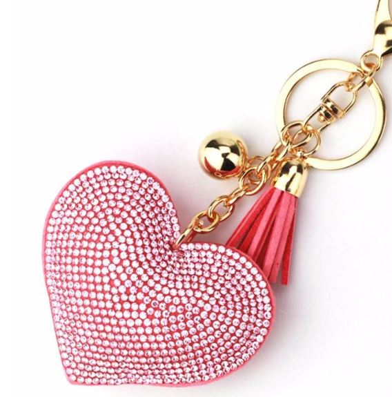 Love Crystal Handbag Key Charm
