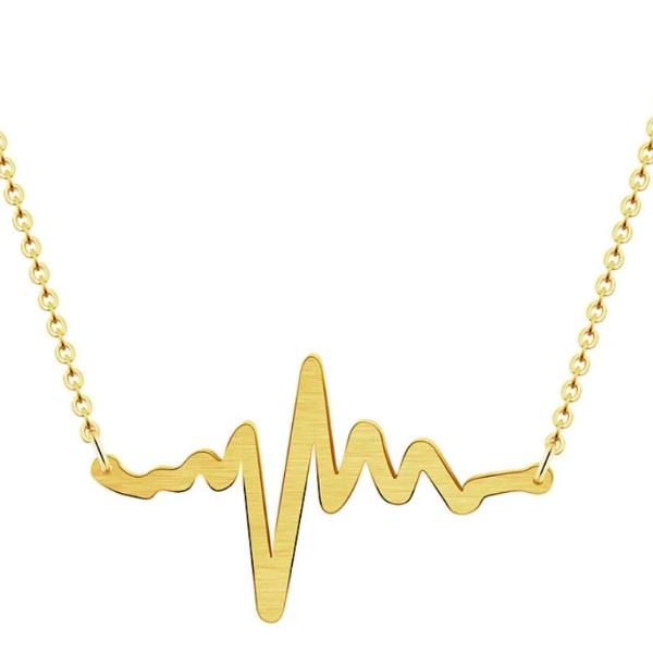 Heart Beat Pulse Necklace Celebrity Style