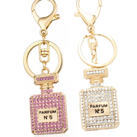 No 5 Perfume charm key ring bag charm