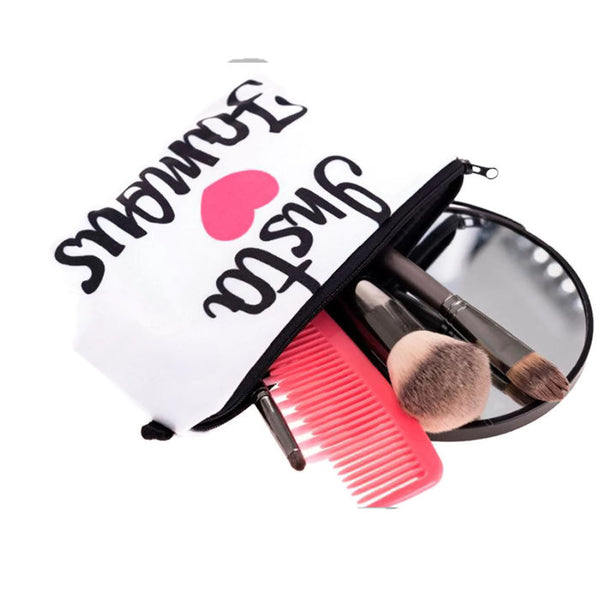 Insta Famous Logo Makeup Bag
