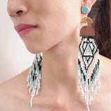 Boho beaded festival earrings