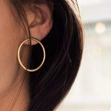 modern large circular hoop earrings