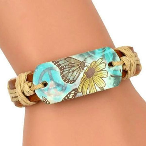 Leather Bracelets At One With Nature Butterfly Bracelet Wear Love