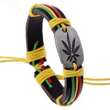 Leather Bracelets Bright Festival Jamaican Reggae Bracelet Wear With Love