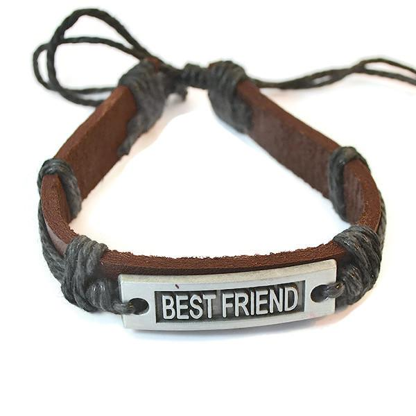 Leather Bracelets Unisex Best Friends Bracelet Wear With Love