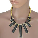 Modern Necklaces Bijoux Rectangular Statement Necklace Wear With Love