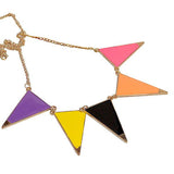 Modern Necklaces Fabulous Triangle Multi Coloured Triangular Drop Necklace Wear With Love