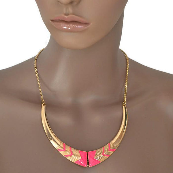 Modern Necklaces Retro Design Panel Enamel Collar Necklace Wear With Love