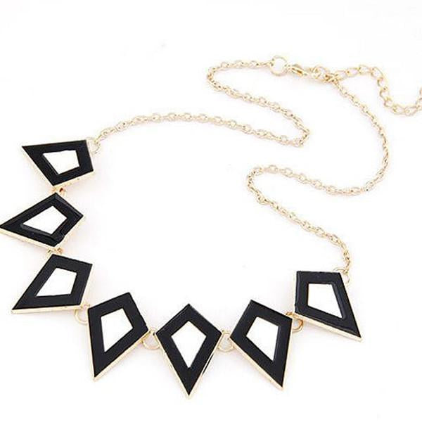 Modern Necklaces Retro Diamond Monochrome Necklace Wear With Love