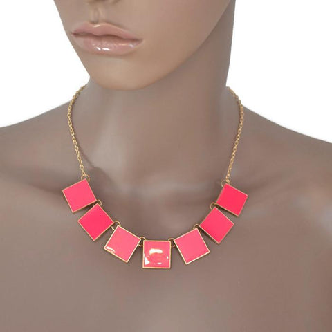Modern Necklaces Stylish Square Wear With Love
