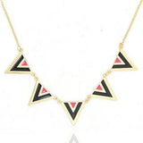 Modern Necklaces Triangular Aztec Print Necklace Wear With Love