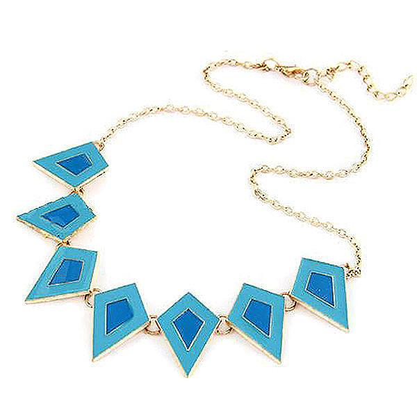 Modern Necklaces Turquoise Geometric Square Necklace Wear With Love