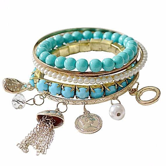 Multi Bangles Turquoise Delight Green Charm Wear With Love