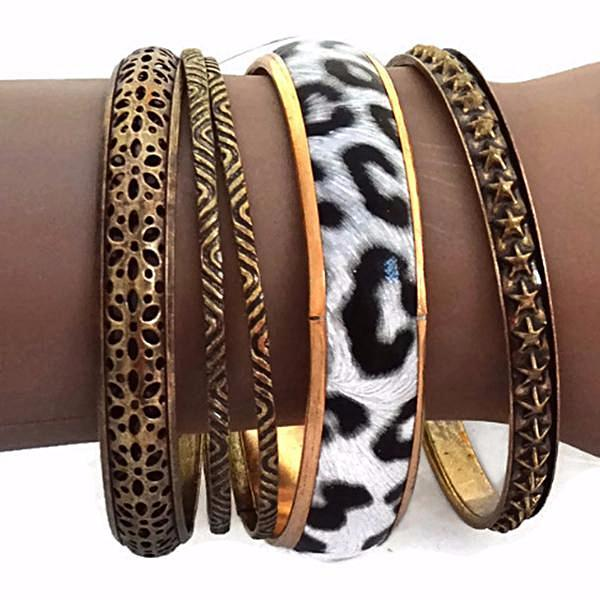 Multi Bangles Wild Thing Animal Print Bohemian Wear With Love