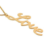 Necklace_Multichain Gold Love Long Pendant Necklace Wear With